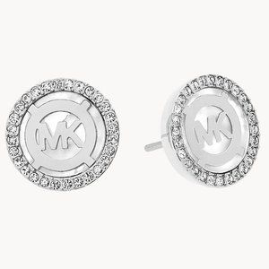 NWT MICHAEL KORS MK Monogram Stud Earrings